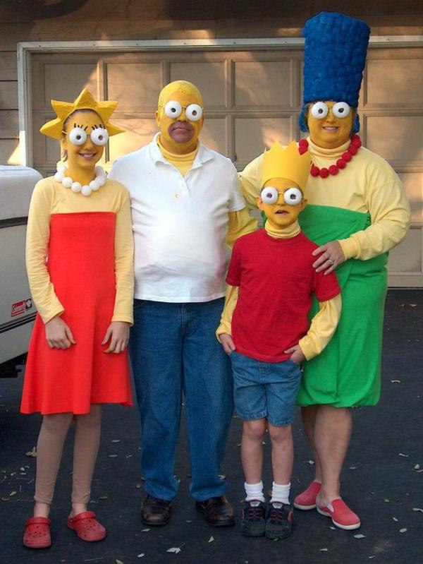 Faschingskostme Ideen Simpson Familie Karneval Verkleidung