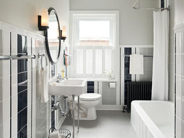 fliesen badezimmer ideen bilder badmöbel schwarz weiß