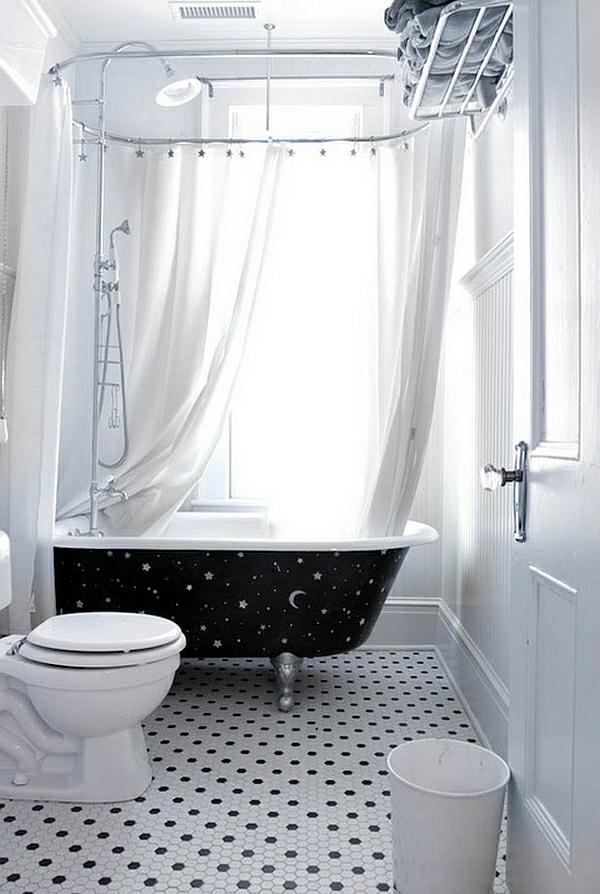 Badewanne Freistehend Dusche : freistehende badewanne mit dusche nachthimmel motive