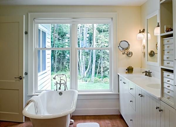 freistehende badewanne mit rollen badezimmer