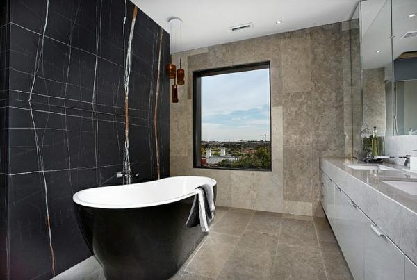 Inspirationen schwarz weises bad design  Badewanne Schwarz Zu Einbauen ~ Kreative Bilder für zu Hause ...