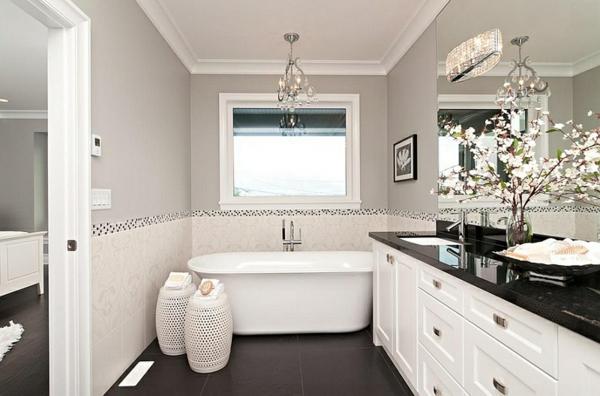 Badezimmer Ideen In Schwarz Weiß U2013 45 Inspirierende Beispiele |  Badeinrichtung ...