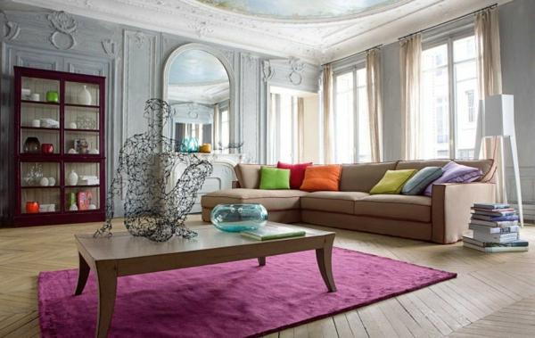 frisch modern farbgestaltung wohnzimmer