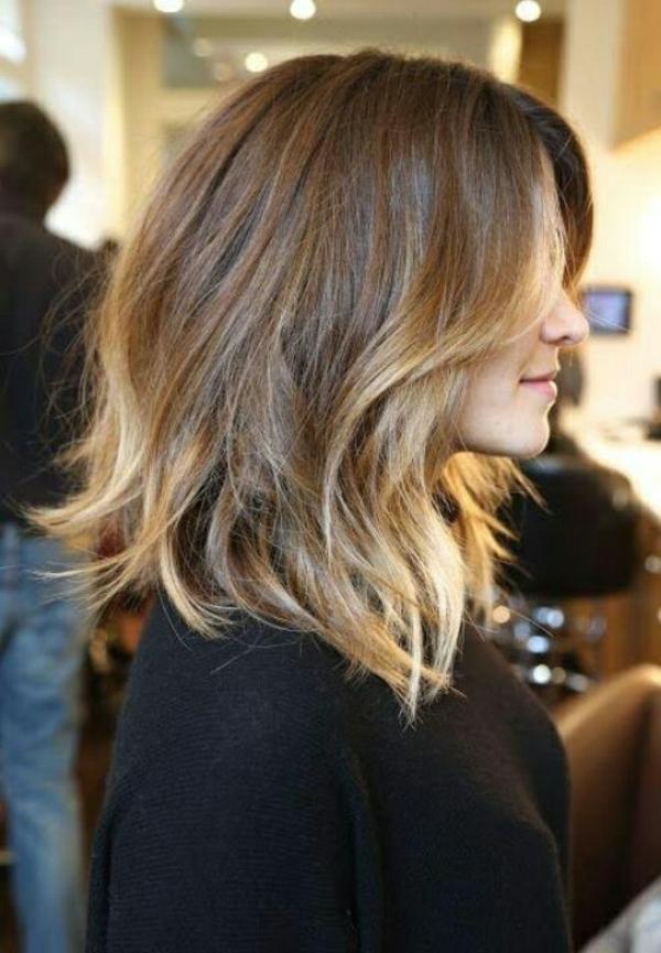 frisuren für schulterlanges haar ombre hairstyle
