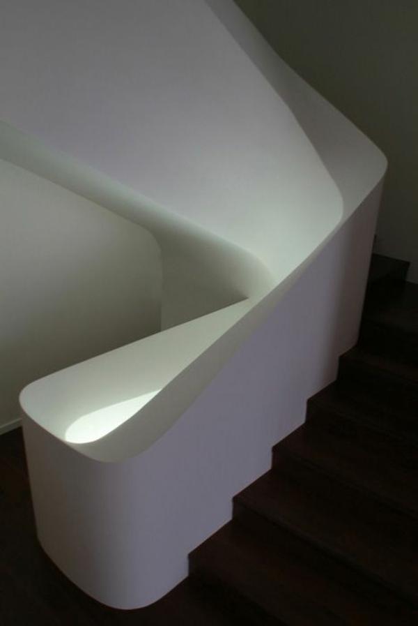futuristisches design treppenhaus geländer
