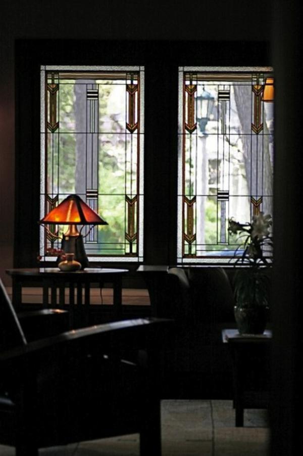 gardinen ideen alternativen vorhänge bleiglas sichtschutz sonnenschutz