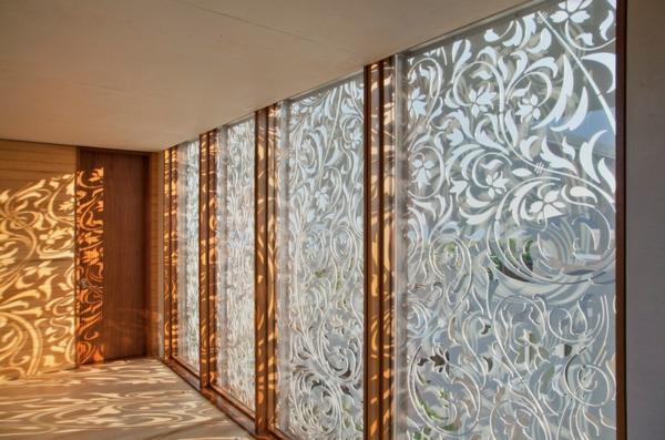 gardinen ideen alternativen vorhänge mettallleinwand deko ideen schattenspiel
