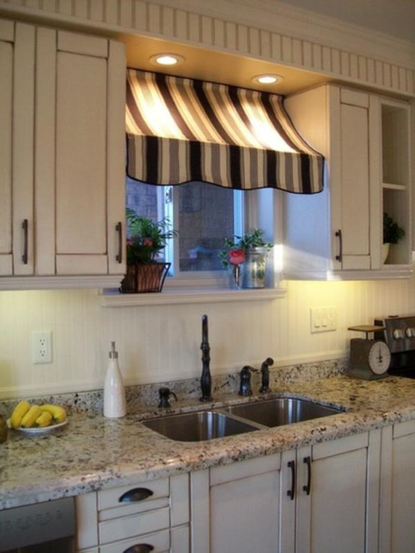 gardinen ideen küchenvorhänge markise sonnensegel