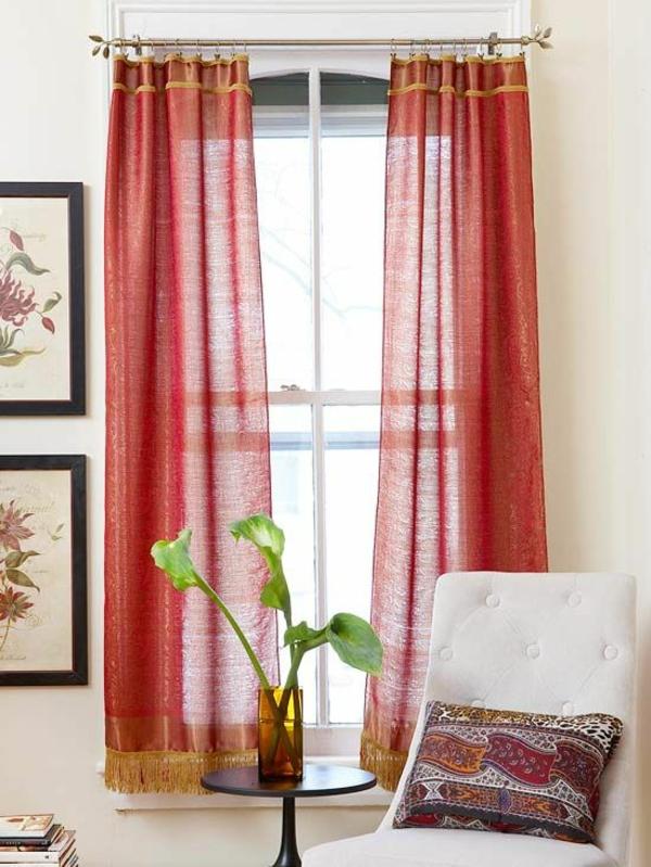 gardinen mit fransen gardinenstange orientalischer stil