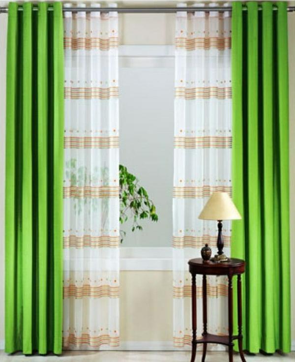 gardinen vorhänge gardinenstange gardinenstoffe grün