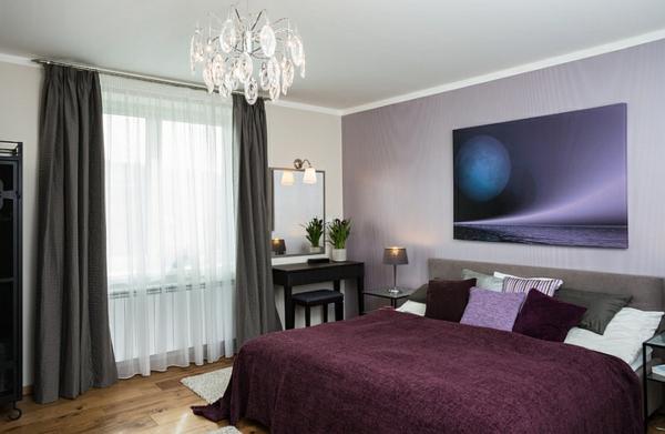 gardinen vorhänge Coole Gardinen Ideen  gemälde schlafzimmerwand