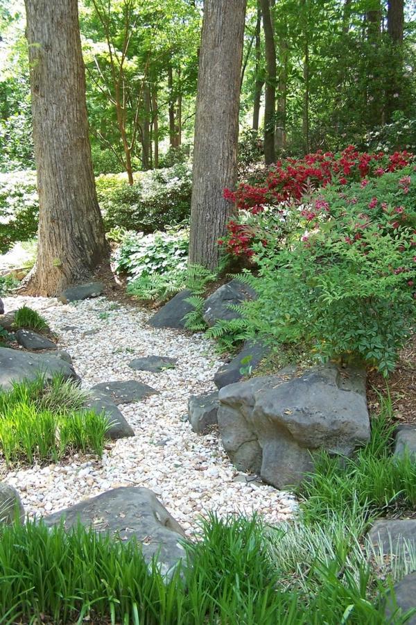 Garten Am Hang Anlegen Ideen Gartengestaltung Mit Kies Natursteinen