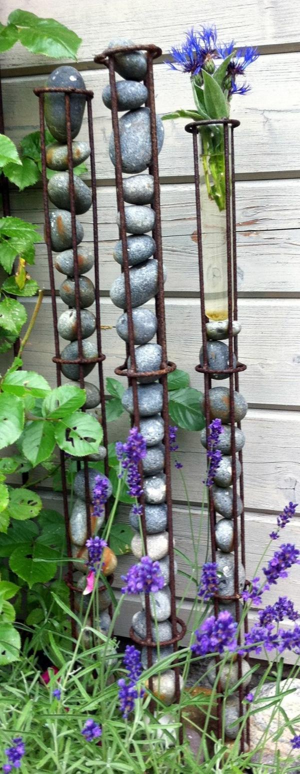 desenho de jardim reforçando pedras de decoração