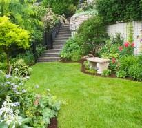 Gartengestaltung am Hang  – Wie können Sie einen schönen Hanggarten gestalten