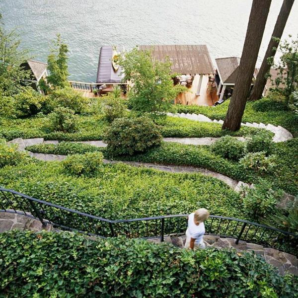 Gartengestaltung Am Hang Garten Anlegen Ideen Mediteraner Hanggarten