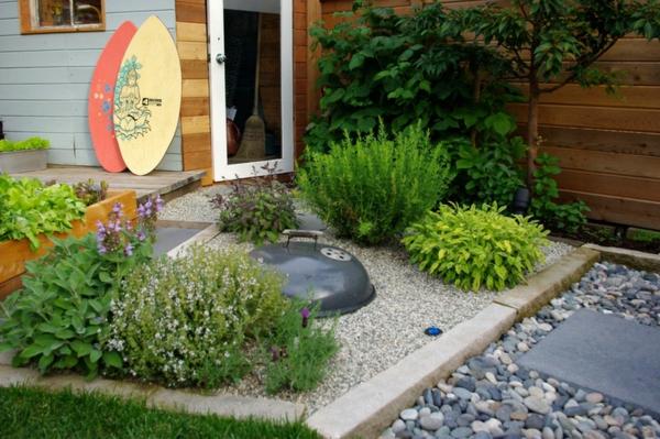 gartengestaltung ideen essbare pflanzen gewürzen kräuter