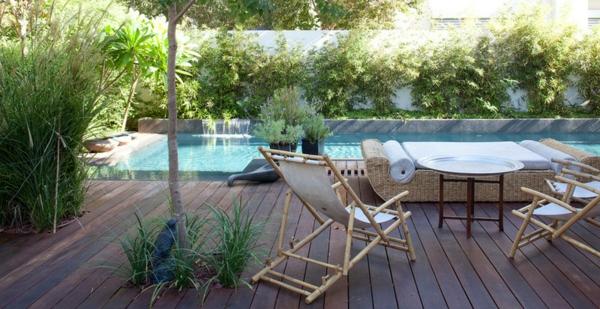 Teakholz Gartenmobel Karchern : gartengestaltung ideen holz bodenbelag gartenmöbel pool pflanzen[R