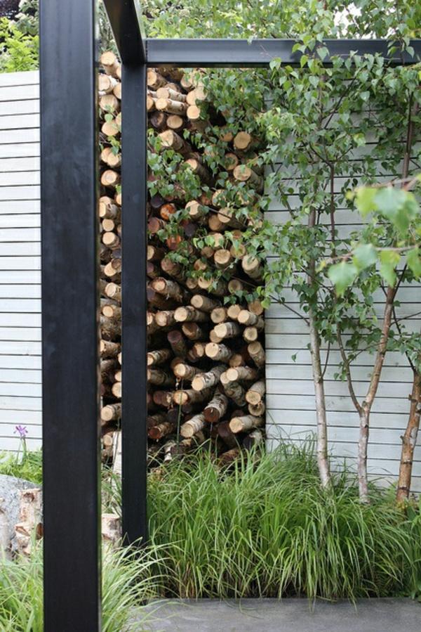 gartengestaltung modern Garten und Landschaft  idee auffallend natur holz