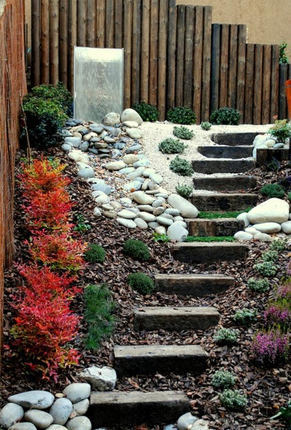 gartengestaltung modern landschaft garten idee auffallend treppe
