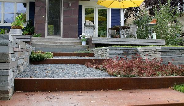 gartengestaltung und landschaftsbau xeriscaping kies stein pflanzen