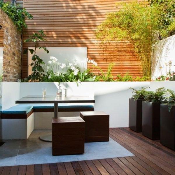 ideen anlegen gartengestaltung bilder modern sitzecke
