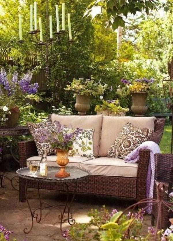 ideen anlegen gartengestaltung bilder modern sofa