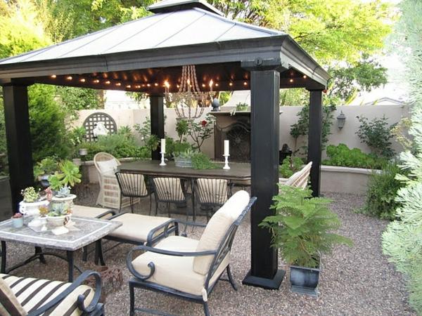 Hervorragend 50 Gartenlauben aus Holz - Gartenpavillon selber bauen GP67
