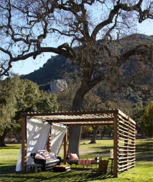 Gartenpavillon Holz Rustikal ~ contemporary gartenlauben aus holz pergolas exotisch umgebung