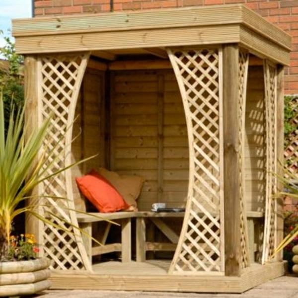 Gartenmobel Set Tchibo : 50 Gartenlauben aus Holz  Gartenpavillon selber bauen