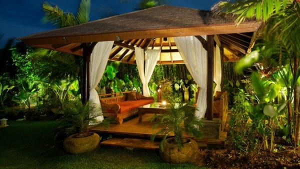 Gartenmobel Teak Pflegen : 50 Gartenlauben aus Holz  Gartenpavillon selber bauen