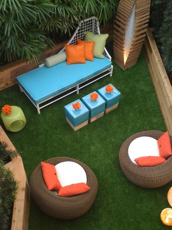 gartenmöbel blau orange frisch garten hocker frische ideen für partydeko