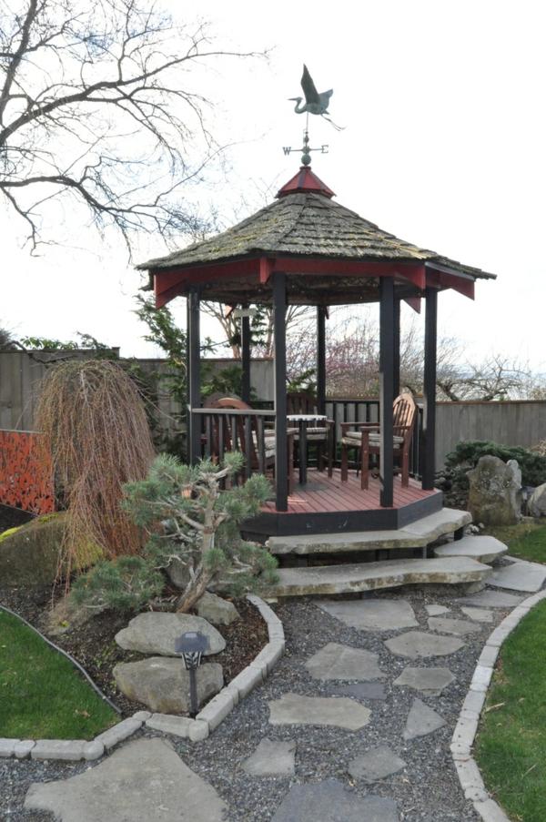 Hochbeet Stein Selber Bauen : 50 Gartenlauben aus Holz  Gartenpavillon selber bauen
