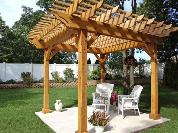 Gartenpavillon Holz Rustikal ~ 50 Gartenlauben aus Holz  Gartenpavillon selber bauen