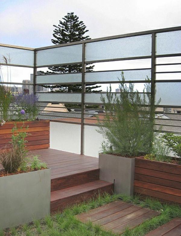 Moderne gartenz une schaffen sichtschutz im au enbereich for Gartenzaun modern