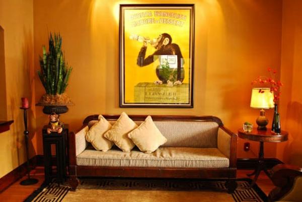 gemütliche sitzecke dekoideen warme wandfarben