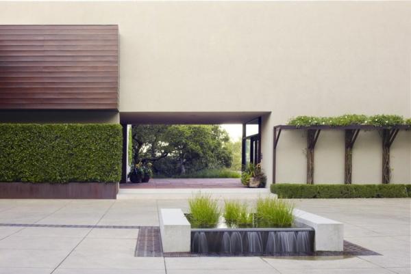 geometrisch anordnung gartengestaltung ideen modern landschaft