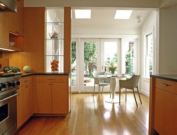 glasregal moderne küche design ideen