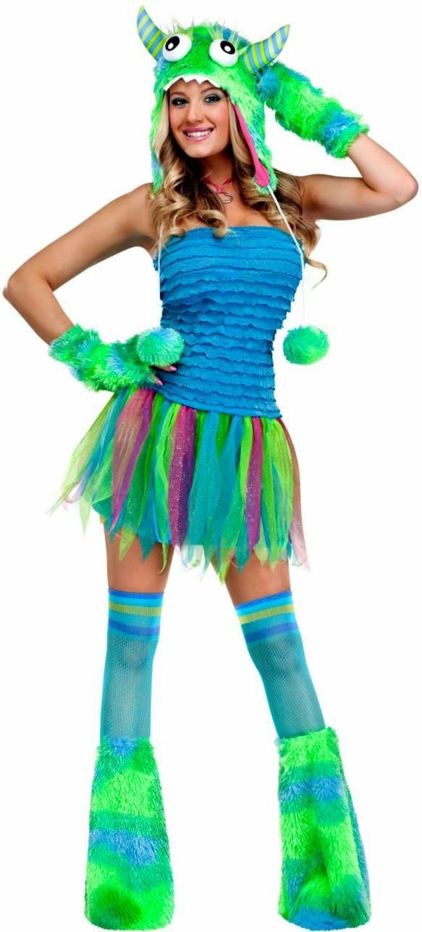 grünes monster ideen kostüme fasching