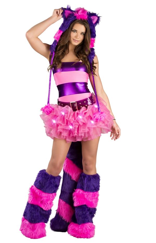 rosa lila streifen grinsekatze kostüm r alternativ