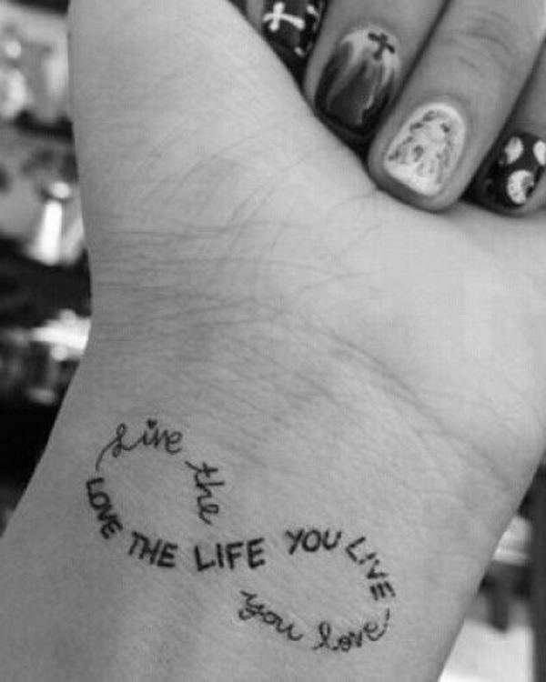 handgelenk tattoos sprüche innen