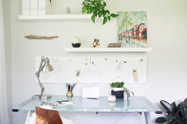 heimbüro arbeitstisch tischlampe stuhl