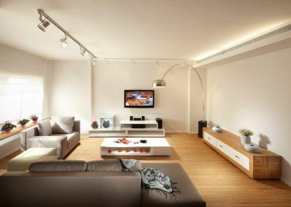 helle farben im wohnzimmer beleuchtung