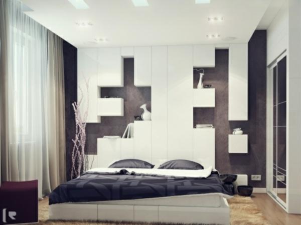 Schlafzimmer Behaglich Schlafzimmerwand Gestalten Wanddeko Hinter Dem Bett