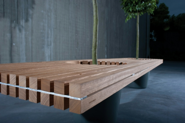 Außergewöhnlich Holzbank selber bauen - gemütliche Sitzecke für Ihren Garten #IZ_54