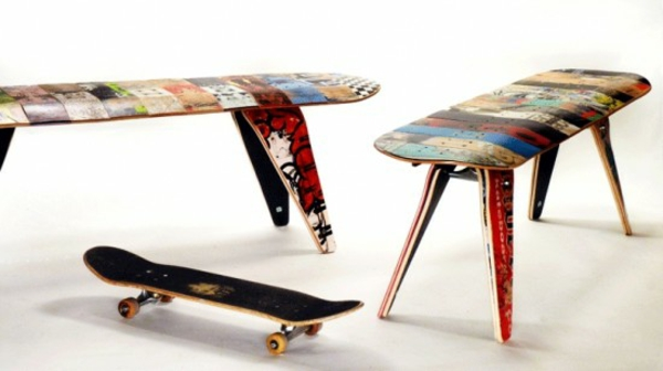 holzbank selber bauen DIY garten  skateboard