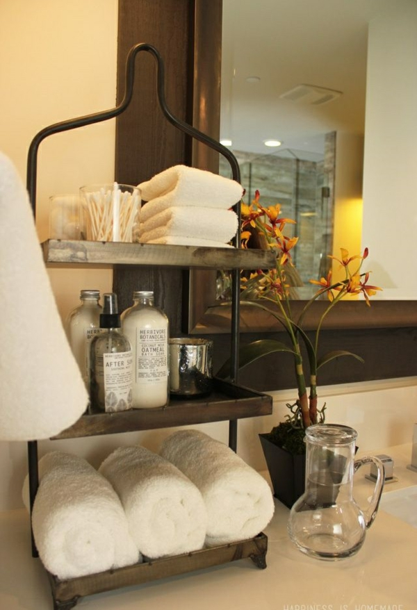 holzregal lagerraum ins badezimmer integrieren