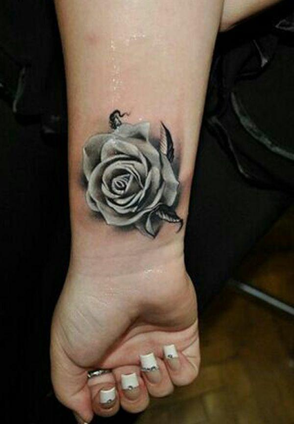 ideen für handgelenk tattoo rose