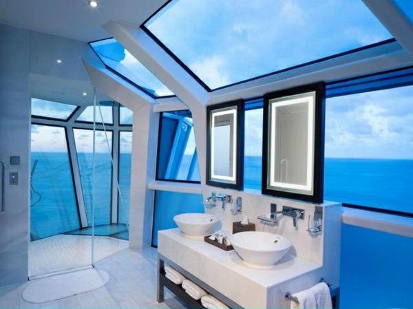 ideen für inneneinrichtung luxus badezimmer symmetrisch