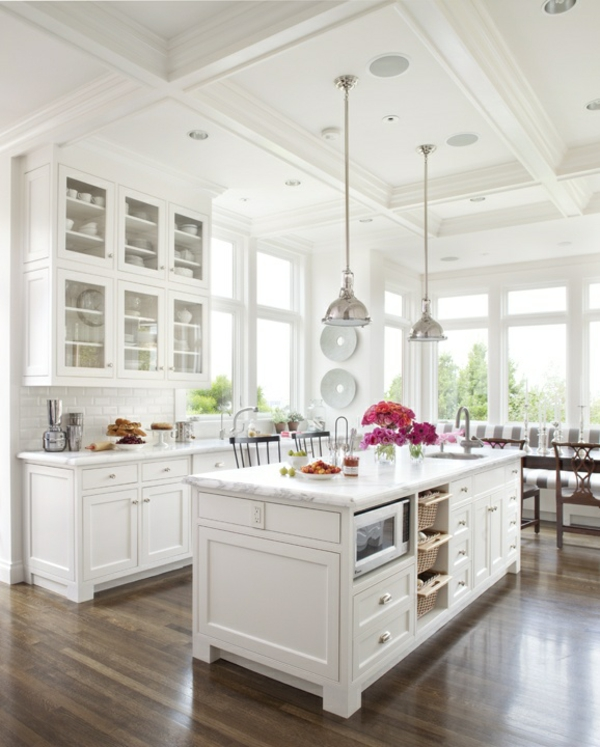 ideen für inneneinrichtung küche holzmöbel kücheninsel