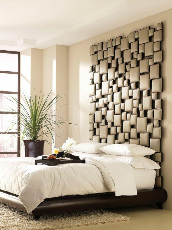 ideen für schlafzimmergestaltung interessantes kopfteil
